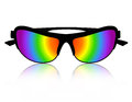 Sunglass rainbow color stylish clipart illustration isolated on white background Stock Photo