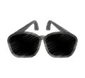 sunglasses accessory isolated icon Royalty Free Stock Photo