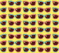 Sunglasses cute seamless vector pattern Royalty Free Stock Photo