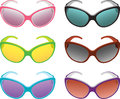 Sunglasses with different colors Stock Photography