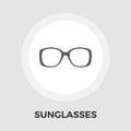 Sunglasses flat icon