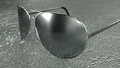 Sunglasses in  metal design Royalty Free Stock Photography