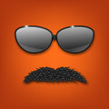Sunglasses and mustache.vector EPS10 Royalty Free Stock Photo