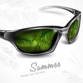 Sunglasses with reflection on white Stock Images