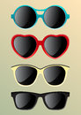 Sunglasses set of of various shapes Stock Photography