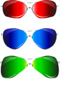 Sunglasses various for ladies and gents Royalty Free Stock Photos
