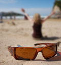 Sunglasses and Women Royalty Free Stock Photos
