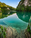 Sunk boat in plitvice lakes national park croatia Royalty Free Stock Images