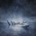 Sunken Boat Remains