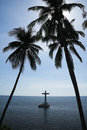 Sunken cemetery cross camiguin island philippines Stock Images