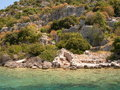 Sunken city of kekova in turkey Stock Images
