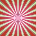 Sunlight background. Retro Red and green color burst background. Fantasy Vector illustration. Royalty Free Stock Photo