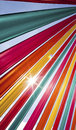 Sunlight flares richly coloured ribbons Royalty Free Stock Images