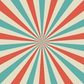 Sunlight retro faded background. Pale red, blue, beige color burst background. Fantasy Vector illustration. Royalty Free Stock Photo