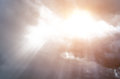 Sunlight skylight from the clouds of divine light Royalty Free Stock Photo