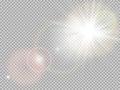Sluneční světlo zvláštní objektiv vzplanutí