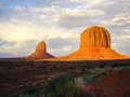 Sunlight after the storm utah desert rock formations brighten Royalty Free Stock Images