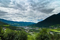 Sunnseitnweg bressanone south tyrol look at the isarco valley Royalty Free Stock Photo