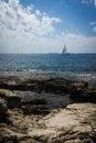 Sunny beach rocky in croatia Stock Photography