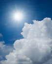Sunny with blue sky deep Royalty Free Stock Photos