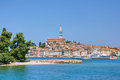 Sunny, bright town Rovinj Royalty Free Stock Images