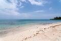 Sunny caribbean beach Fotos de archivo libres de regalías