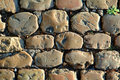Sunny Cobbled Road Close Up Royalty Free Stock Photos