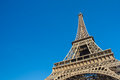 Sunny day at eiffel tower in paris france Stock Photography