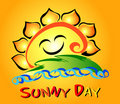Sunny Day Flower Stock Images