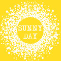 Sunny Day Summer Typography Sign
