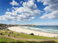 Sunny day view of bondi beach in sydney australia Royalty Free Stock Photo