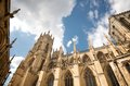 A sunny day at york minster england this was taken in front of the beautiful architecture Royalty Free Stock Image