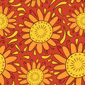 Sunny decorative seamless pattern design Stock Photography