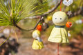 Sunny dollเ doll japanese hang it to pray for good weather Stock Photo