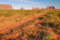 Sunny evening in monument valley arizona usa Stock Image