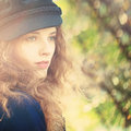 Sunny Girl. Spring Young Woman Royalty Free Stock Photo