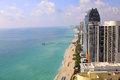 Sunny Isles Beach Miami. Ocean front residences. Royalty Free Stock Photo
