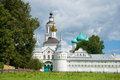 Sunny July day at a sacred gate of Tolgsky Sacred Vvedensky Monastery. Golden Ring of Russia Royalty Free Stock Photo