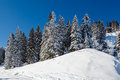 Sunny ski slope near megeve in french alps france Stock Photography