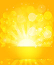 Sunny skies and bokeh. Vector background