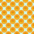 Sunny smile cartoon vector seamless pattern Royalty Free Stock Photo