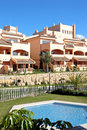 Sunny Spanish Apartment Block Royalty Free Stock Photography