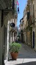 Sunny syracus on sicily in italy in autumn Royalty Free Stock Photo