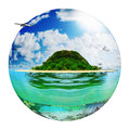 Sunny tropical beach on the island Royalty Free Stock Photo