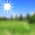 Sunny vector nature abstract design gradient mesh background Stock Images