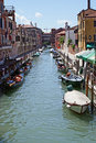 Sunny venice channel Royalty Free Stock Image