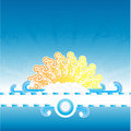 Sunny water splash banner stripe Stock Photography