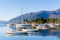 Sunny winter day bay of kotor montenegro near seljanovo tivat Royalty Free Stock Photos