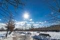 Sunny winter landscape Royalty Free Stock Photo