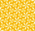 Sunny yellow floral geometric seamless pattern. Royalty Free Stock Photo